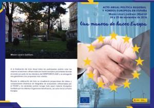 Acto Anual de Política Regional y Fondos Europeos en España